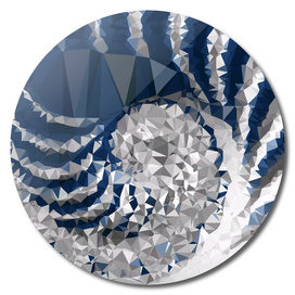 Blue and White Stripes Triangles Geometric