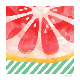 Red Grapefruit Abstract