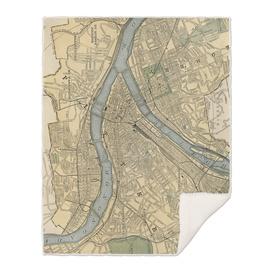 Vintage Map of Pittsburgh Pennsylvania (1891)