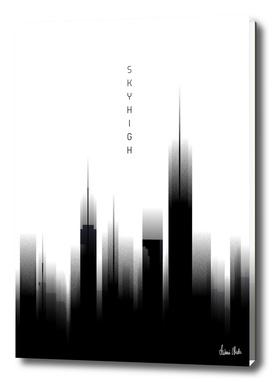Graphic Art SKYHIGH | white