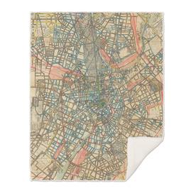 Vintage Map of Berlin Germany (1904)