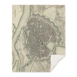 Vintage Map of Hamburg Germany (1841)