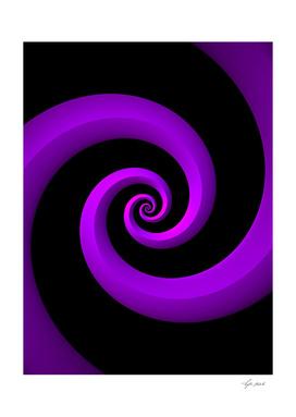 Purple Spirals on Black