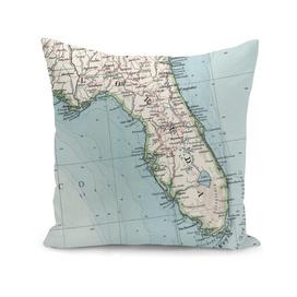Vintage Map of Florida (1900)