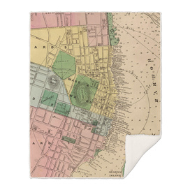 Vintage Map of Halifax Nova Scotia (1878)