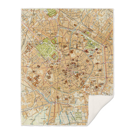 Vintage Map of Milan Italy (1914)