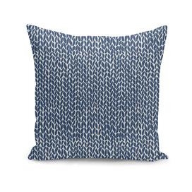Hand Knit Navy