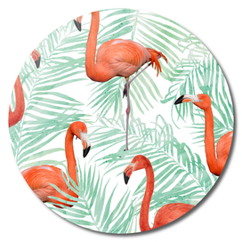 Flamingo & Mint Palm
