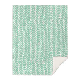 Hand Knit Mint