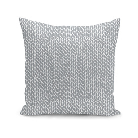 Hand Knit Light Grey