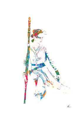 Rey - The Force Awakens - Pop Art