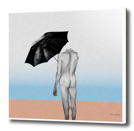 all he needs is an umbrella