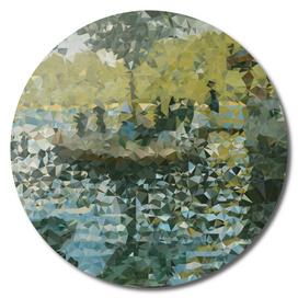 Monet La Grenouillère Geometric Triangles