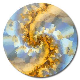 California Blue Gold Fractal Art Triangles