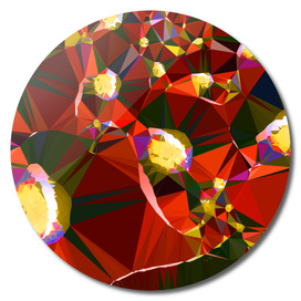 Red Gold Fractal Art Abstract Triangles