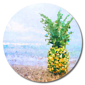Pineapple On Beach Tropical Paradise Triangles