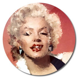 Marilyn Monroe Geometric Triangles