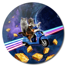 cat scooter travel with lasagne galaxy