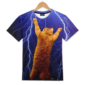 cat Thunders lighting space universe galaxy