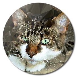 Cat Geometric Polygon Fine Art