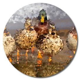 Mallard Ducks Geometric Fine Art