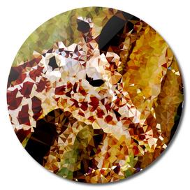 Giraffe Geometric Fine Art