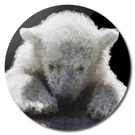 Polar Bear Cub Geometric Art