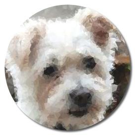 Cute Puppy Geometric Art
