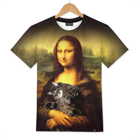 Mona lisa fat crazy cat photo kitty fatso famous pain