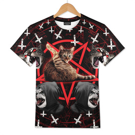 satanic cat pentagram death black metal band exorcist