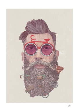 Hipster Dude Poster