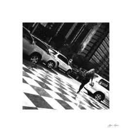 Girl walking in street 3