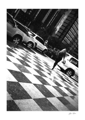 Girl walking in street 1