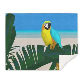 Parrot Tropical Banana Leaves Design