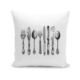 Vintage cutlery kitchen art