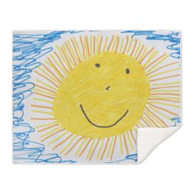 sun children drawing image drawing
