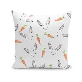 Rabbit Carrot Pattern Weft Step face