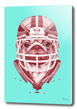 American Pug Football Red