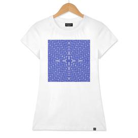 Block Printed Illusion Indigo