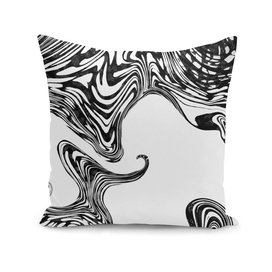 Black and White Liquid Marble Effect Design