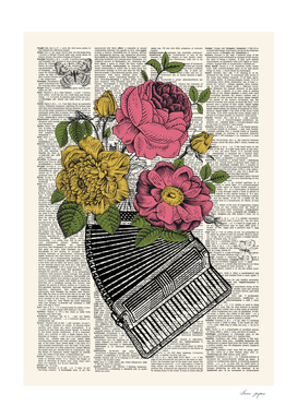 Accordion Floral Dictionary Print