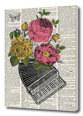 Accordion Floral Dictionary Print