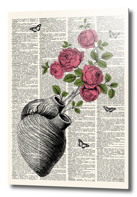 Floral Heart Dictionary Print