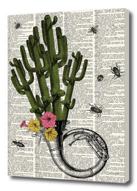 Cactus Trumpet Dictionary Print