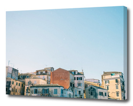 Architecture of Corfu town, Kerkyra, Greece.