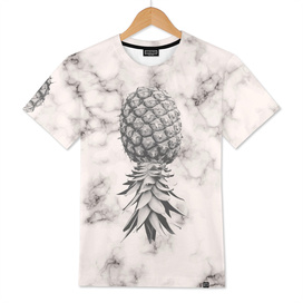 Marble Texture Seamless Pattern Pineapple 052