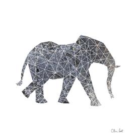 Geometric elephant grey