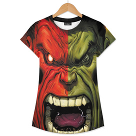 Hulk green red superhero