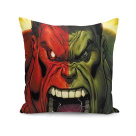 Hulk green red superhero