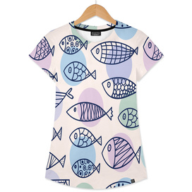 love fish seaworld swim blue white sea water cartoons